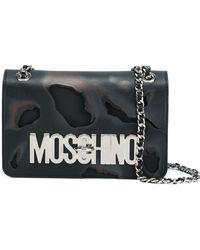 Moschino - Burned-Effect Leather Shoulder Bag - Lyst