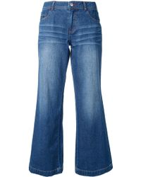 Guild Prime - - Flared Cropped Jeans - Women - Cotton - 34 - Lyst