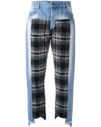 Gaëlle Bonheur - Plaid Patch Jeans - Lyst