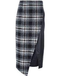 Gaëlle Bonheur - Asymmetric Plaid Skirt - Lyst