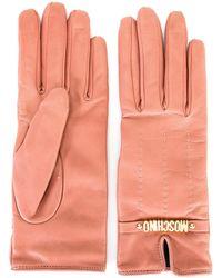 Moschino - Short Logo Gloves - Lyst