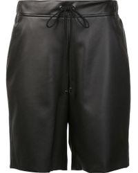 Giamba - Leather Effect Lace Up Shorts - Lyst