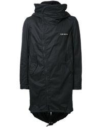 Nude - Hooded Zipped Coat - Lyst