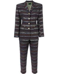 Jean Paul Gaultier - Two Piece Patterned Trouser Suit - Lyst