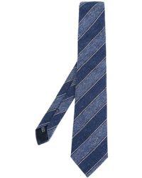 Fashion Clinic - Stitched Diagonal Stripe Tie - Lyst