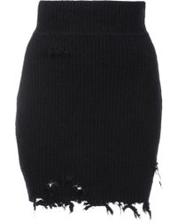 Yeezy - Destroyed Bouncle Mini Skirt - Lyst