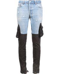 Greg Lauren | Contrast Slim-fit Trousers | Lyst