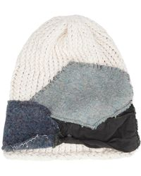 Greg Lauren - Patched Knit Beanie - Lyst