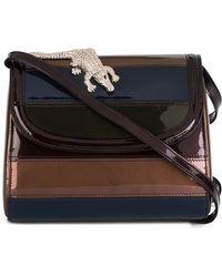 Amelie Pichard | - Patchwork Shoulder Bag - Women - Cotton/patent Leather - One Size | Lyst