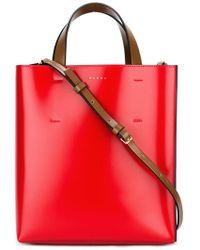 Marni - Museo Small Leather Shopper Tote - Lyst