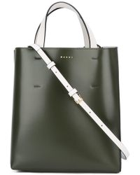 Marni - Museo Small Leather Shopper Tote - Lyst