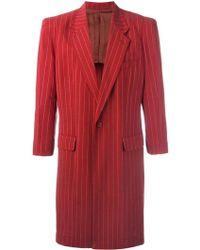 Jean Paul Gaultier - Lightweight Pinstriped Coat - Lyst
