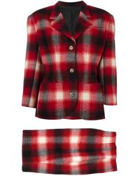 Jean Paul Gaultier - Checked Skirt Suit - Lyst