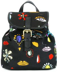 209d87e4084f Lyst - Boutique Moschino Canvas Mini Backpack in Black