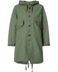Engineered Garments - Buttoned Military Coat - Lyst