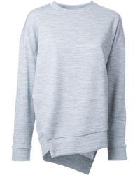 Enfold - Enföld Side Split Sweatshirt - Lyst