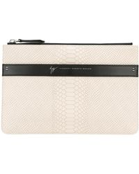 Giuseppe Zanotti - - Crocodile Effect Pouch - Men - Leather - One Size - Lyst