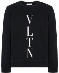 Valentino - Felpa con logo VLTN - Lyst