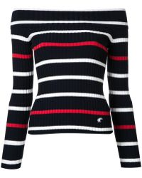 Loveless - Off Shoulder Striped Jumper - Lyst