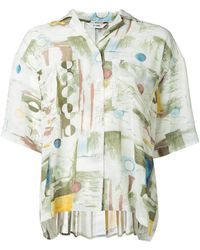 Clane - Printed Short Sleeve Shirt - Lyst