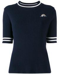 MUVEIL - Patch Figure Ribbed Sweatshirt - Lyst