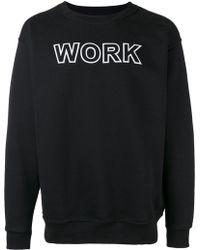 Andrea Crews - 'work' Print Sweatshirt - Lyst