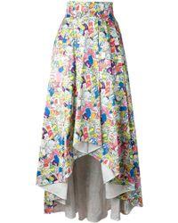 Ultrachic - Garbage Print Full Skirt - Lyst