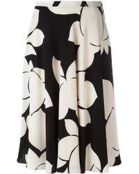 Aspesi - - Floral Print Skirt - Women - Silk/viscose - 42 - Lyst