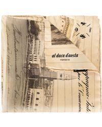 Al Duca d'Aosta - Landscape Print Scarf - Lyst