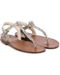 Pepe Jeans - Zebra Print Sandals - Lyst
