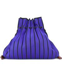 Issey Miyake - Striped Sack Backpack - Lyst