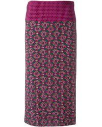 Aspesi | Geometric Print Midi Skirt | Lyst