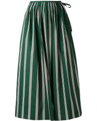 Aspesi - Gathered Striped Skirt - Lyst