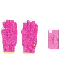 Juicy Couture - Glittered Gloves And Iphone 4 Case - Lyst