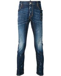 DSquared² Schmale Jeans mit ausgeblichenem Effekt