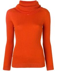 Courreges - Roll Neck Fitted Sweater - Lyst