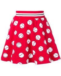 Love Moschino - Red Ball Print Skirt - Lyst