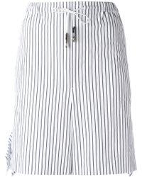 Toga - Striped Tie-waist Shorts - Lyst