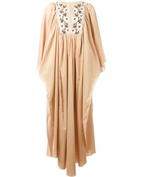 DAFT - Embroidered Kaftan Dress - Lyst
