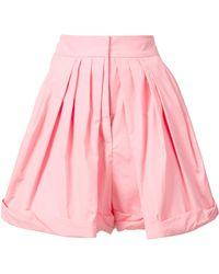 Vika Gazinskaya - - Pleated Tailored Shorts - Women - Cotton - 40 - Lyst