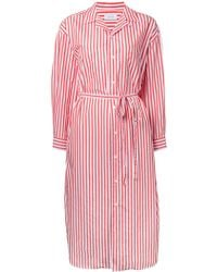 En Route - Striped Midi Shirt Dress - Lyst