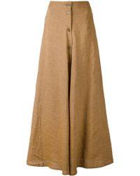 Aspesi | Long Button Front Skirt | Lyst