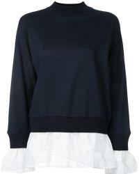 MUVEIL - Contrast Layer Sweatshirt - Lyst