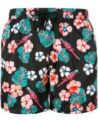 NOS Beachwear - Floral Print Swim Shorts - Lyst