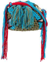 Peter Pilotto - Dinosaur Applique Crocheted Bag - Lyst