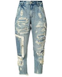 American Rag Cie - Distressed Straight Jeans - Lyst