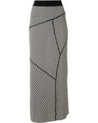 Alessandra Marchi - Striped Maxi Skirt - Lyst