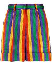 Rossella Jardini - High Waisted Striped Shorts - Lyst
