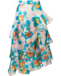 Daizy Shely   Ruffled Midi Skirt   Lyst