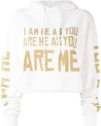 Each x Other - Cropped Word Print Hoodie - Lyst